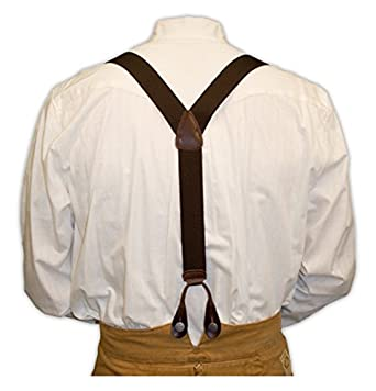 Victorian Men's Accessories – Suspenders, Gloves, Cane, Pocket Watch, Spats Elastic Y-Back Braces $25.95 AT vintagedancer.com