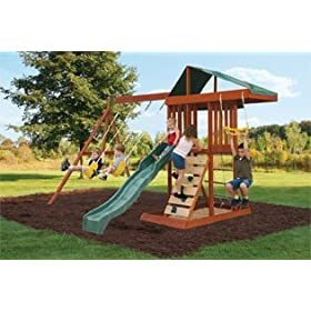 discount wooden swing sets outdoor play sets