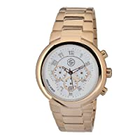 Philip Stein Men's 32-ARGW-RGSS Quartz Gold Plated Chronograph White Dial Watch from Philip Stein