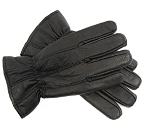 Mens Leather Gloves, Black & Brown Available, Black, M/L