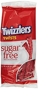 Twizzlers Sugar Free Twists, Strawberry, 5-Ounce Bags (Pack of 12)