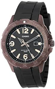 Casio Men's MTD1073-1A1V Brown Ion-Plated Stainless Steel Analog Watch