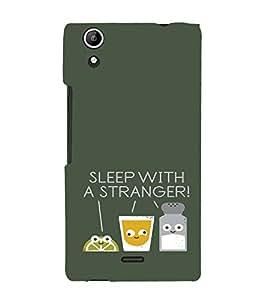 EPICCASE Sleep With a Stranger Mobile Back Case Cover For Micromax Canvas Selfie Lens Q345 (Designer Case)