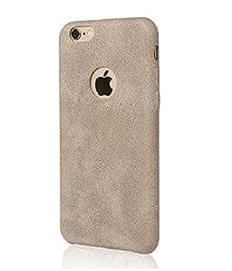 MVE USAMS BOB Series Soft PU Leather Back Case Cover for Apple iPhone 6PLUS/6SPLUS - LIGHT BROWN