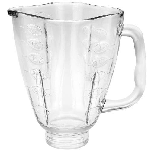 Clover leaf shaped glass blender jar, fits Oster blenders. (Osterizer 6630 compare prices)