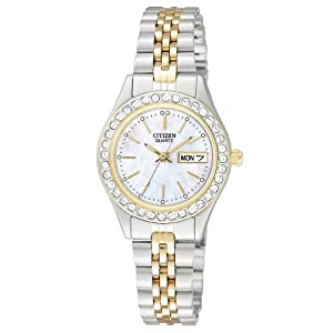 Citizen Quartz Two Tone Stainless Steel Women's Watch - EQ0534-50D