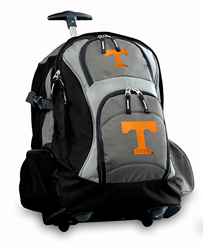 University Of Tennessee Rolling Backpack Deluxe Gray Tennessee Vols Logo Best B