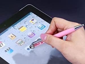 Swarovski Crystal Capacitive Touch Stylus/Ballpoint Pen for iPhone 5 iPad Mini