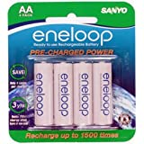 Sanyo 16 Pack New Version Sanyo Eneloop 2000 MAH LOW Discharge AA Batteries Sixteen Battery Bundle ~ Sanyo