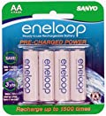 16 Pack New Version Sanyo Eneloop 2000 mAh Low Discharge AA Batteries