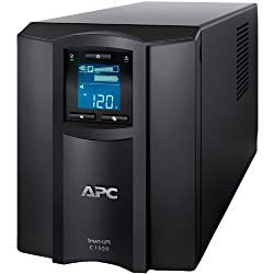 APC SMC1500 Smart-UPS 900 Watts/1500 VA Input 120V/Output 120-Volt Interface Port USB with Uninterrupted Power Supply