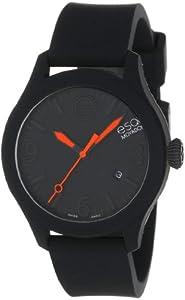 ESQ Movado Unisex 07301436 ESQ ONE Round Black Silicone/Black Stainless Steel Watch