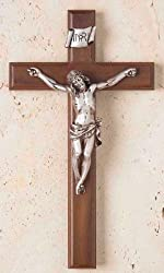 CRUCIFIX 12 INCH WALNUT CROSS