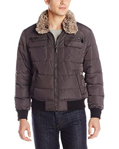Calvin Klein Men's Bomber Jacket with Faux Fur Collar