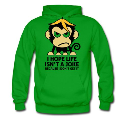 Spreadshirt, Life Isnt A Joke 3 (3c)++, Men's Hoodie, kelly green , L