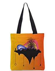 Snoogg Tree With Rainbow Designer Poly Canvas Tote Bag