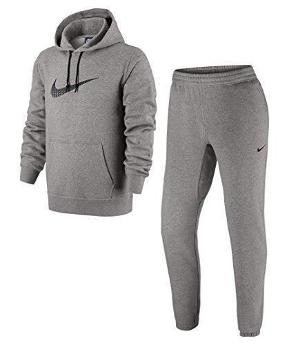 Nike Tuta Cotone Felpato Club Swoosh Colore Grigio TG L Tracksuit cb1f11a4ab7c