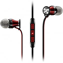 Sennheiser Momentum in-ear i Black - Auriculares con cable para móvil in-ear (control remoto integrado, para Iphone/Ipod/Ipad), negro y rojo