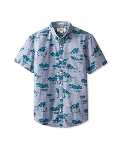 Original Penguin Men's Tropical Print Chambray Shirt