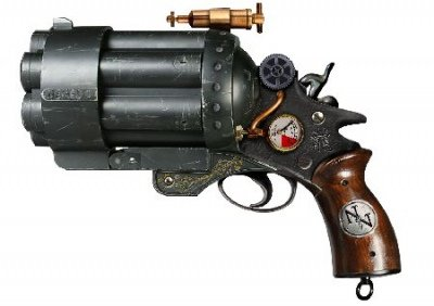 Liberator and Stand - Fantasy Replica Gun - Colonel Fizziwig - Steampunk