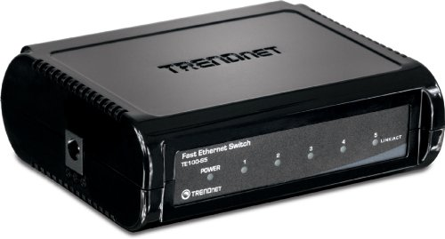 TRENDnet TE100-S5 5-Port Ethernet Switch (5 x 10/100Mbps Auto-MDIX RJ-45 Ports)