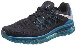 Nike Men\'s Air Max 2015 Dark Obsidian/White Bl Lgn Cp Running Shoe 8.5 Men US