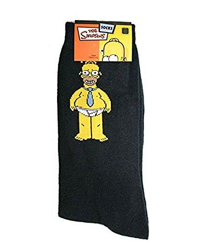 Chaussettes homer simpson pour homme the simpsons noir - Vetement simpson ...