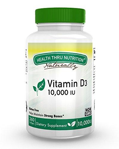 Vitamin D3 10,000 IU Non GMO 360 Mini Softgels (10000 iu cholecalciferol) Soy Free, USP Grade Natural Vitamin D (Vitamin D 10000 Iu compare prices)