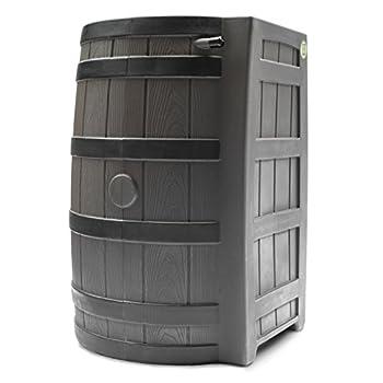 Good Ideas RW50-DR-OAK Rain Wizard Rain Barrel 50-Gallon Darkened Ribs, Oak