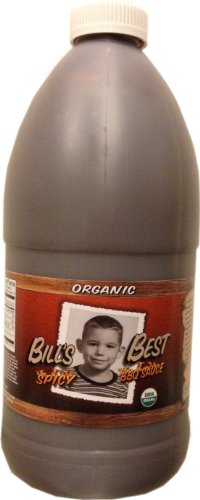 Bill'S Best Spicy Organic BBQ Sauce - 1/2 Gallon