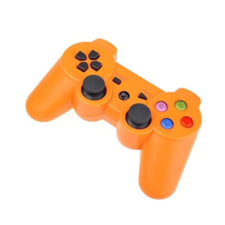 Orange Wireless Bluetooth Six Axis Dualshock Game Controller for Sony PS3