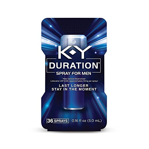 K-Y Duration Spray for Men - Last Longer and Stay in the Moment, 36 sprays / 0.16 fl oz, Also available in 100 sprays, 0.36 fl oz (Sex Spray For Men compare prices)