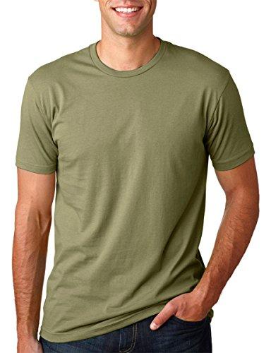 Next Level Premium Soft Rib Knit T-Shirt, Light Olive, Small (Pack3)