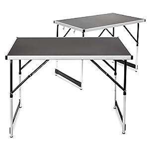 Relaxdays tavoli in alluminio pieghevoli set da 2 for Tavoli amazon