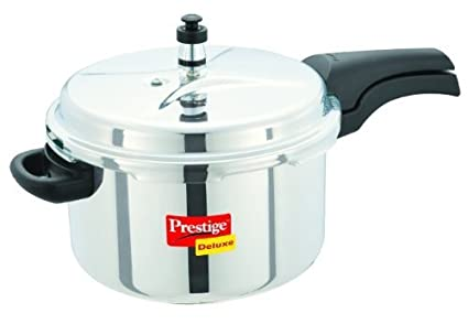 Prestige Deluxe Stainless Steel 6.5 L Pressure Cooker (Induction Based,Outer Lid)