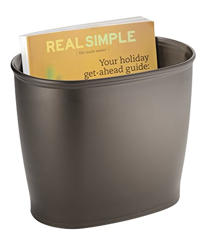 mDesign Oval Wastebasket Trash Can for Bathroom, Kitchen, Office - Bronze