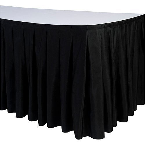 linentablecloth 14 ft accordion pleat polyester table