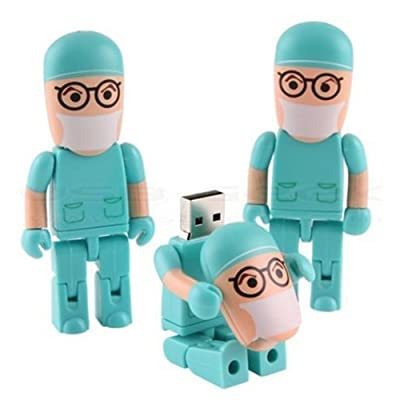 Generic 8GB 8G Blue Doctor Shape Gift Cartoon USB Flash Drive Pen Drive Memory Stick Pendrive