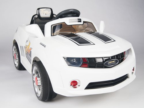 New Camaro 2014 Model Ride On Radio Remote Control White Wheels Kids Car Convertible Racer Upgrated
