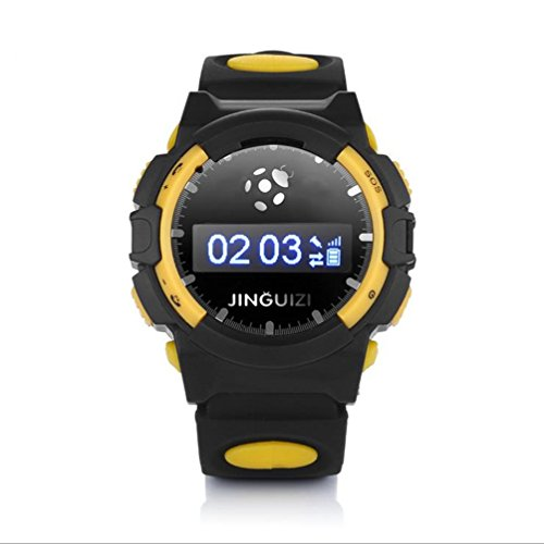 Deepon Child Safety Guards Call Intelligent Positioning Gps Tracking Watches(Black And Yellow)