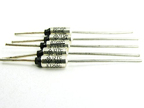 5 Pcs Sf119E Thermal Fuse/Rated Functioning Temperature 121℃