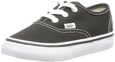 Vans Authentic, Unisex-Childs' Low-Top Trainers, Black/White, 13.5 UK