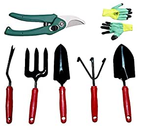 Truphe premium gardening tools set with cutter and gloves for Gardening tools on amazon