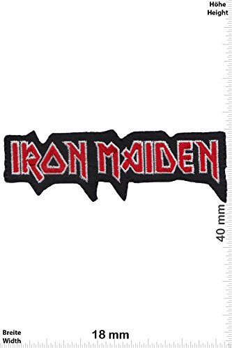 Patch - Iron Maiden - silver red - Musicpatch - Rock - Vest - Iron on Patch - toppa - applicazione - Ricamato termo-adesivo - Give Away