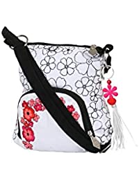 Pick Pocket White Sling With Red Embroidery