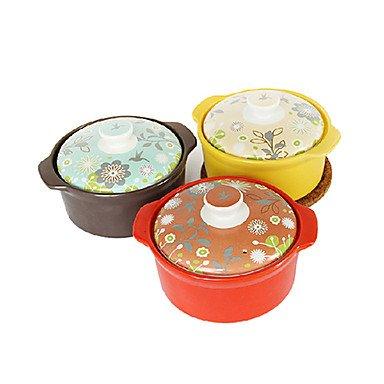 2.6 QT Orange-Red Multifunctional Pot set of 2L26cm x W26cm x H18cm