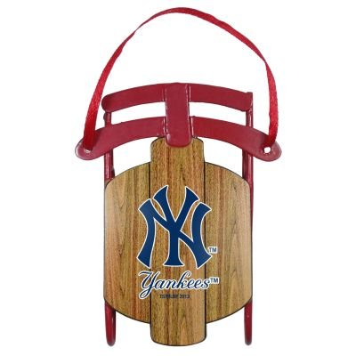 New York Yankees Official MLB Metal Sled Christmas Ornament by Topperscot 995530