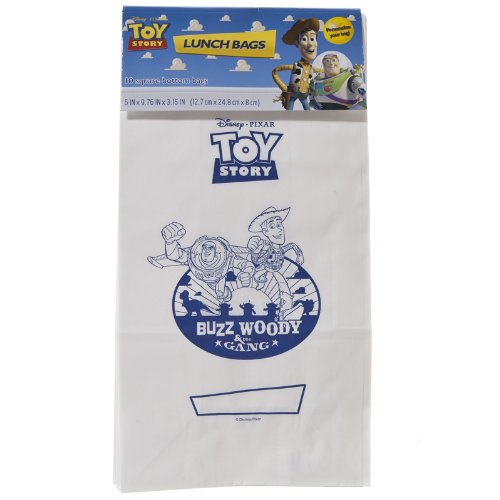 Disney' Pixar Toy Story Color Your Own Treat Lunch Bags Buzz Lightyear & Woody (20 Bags) - 1