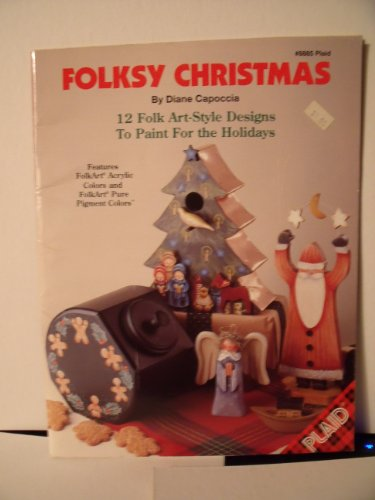 Folksy Christmas: 12 Folk Art-Style Designs to Paint for the Holidays PDF