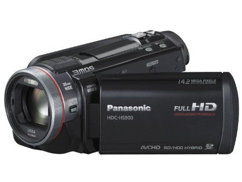 Panasonic HS900 Full HD 1920x1080p (50p) 3D Ready Camcorder - Black (3MOS Sensor, 220GB HDD, SD Card Recording, Leica Dicomar Lens and Manual Control Ring)